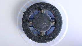 Gas, das von einem K?chengasherd brennt Cooktop-Gaskocher kann als Hintergrund verwendet werden stock video