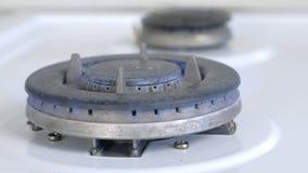 Gas, das von einem K?chengasherd brennt Cooktop-Gaskocher kann als Hintergrund verwendet werden stock video footage
