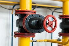 Gas de abastecimiento de la válvula de control Fotos de archivo libres de regalías