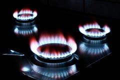 Gas de la estufa fotos de archivo
