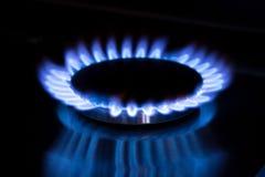 Gas de la estufa en la cocina Foto de archivo