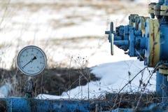 Gas de la pizarra o equipo del aceite Foto de archivo libre de regalías