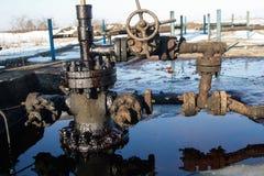 Gas de la pizarra o equipo del aceite Imagen de archivo