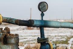 Gas de la pizarra o equipo del aceite Fotografía de archivo