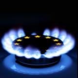Gas de la UE Imágenes de archivo libres de regalías