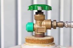 gas de la válvula Fotografía de archivo