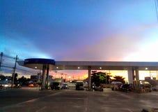 Gas della ricarica CNG fotografie stock libere da diritti