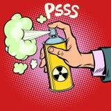 Gas delle scorie radioattive di diversione di attacco illustrazione vettoriale
