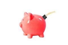 Gas der Piggy Querneigung kann Stockfoto