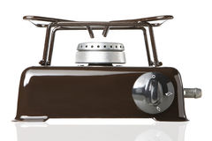 Gas desktop stove. For one subject on a white background Stock Photo