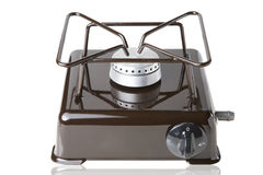 Gas desktop stove. For one subject on a white background Stock Image