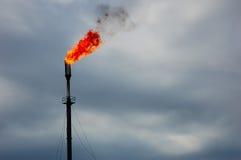 Gas di accompagnamento brucianti Immagine Stock
