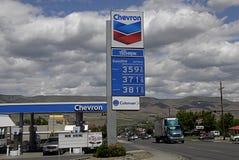 GAS DI CHEVRON Fotografia Stock