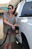 Gas di pompaggio Fotografie Stock