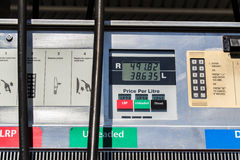 Gas Diesel petrol fuel prices Stock Images