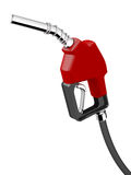 Gas Dispenser. Red Fueling Nozzle Isolated over White Background Royalty Free Stock Images