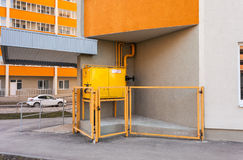 Gas distribution point in an apartment house Royalty Free Stock Photo