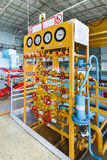 Gas distribution position in a nuclear power plant the turbine room. Royalty Free Stock Photography