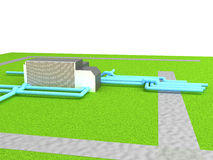 Gas distribution station Stock Image