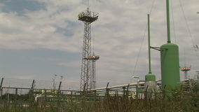The gas distribution station near Varna, Bulgaria stock video