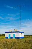 The gas distribution station in village. Russia Stock Image