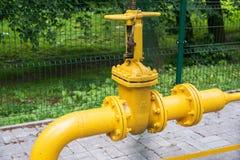 Gas distribution valve Royalty Free Stock Photo