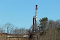 Gas drilling rig Stock Photos