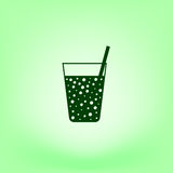 Gas drink cup  icon Royalty Free Stock Photography