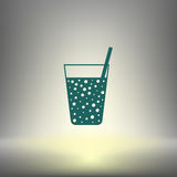 Gas drink cup  icon Stock Image