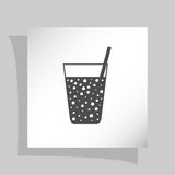 Gas drink cup  icon Royalty Free Stock Photos