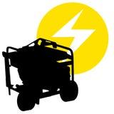 Gas driven generator royaltyfri illustrationer