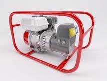 Gas driven generator vektor illustrationer