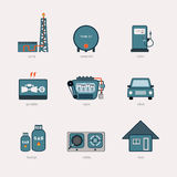 Gas energy icon Stock Images