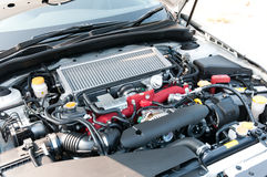Gas Engine Closeup Stock Photography