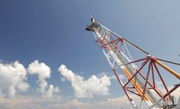 Gas-Entlüftungsöffnungs-Aufflackern und Aufflackern-Hochkonjunktur Stockbild