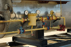 Gas Equipment oil heaters. Royalty Free Stock Photos
