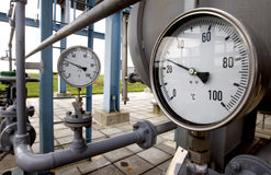 Gas. Equipment,  valves on a natural  pipeline Stock Photo