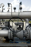 Gas. Equipment,  valves on a natural  pipeline Stock Photos