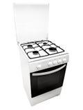 Gas-estufa blanca Fotos de archivo libres de regalías