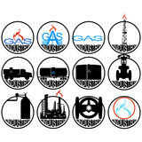 Gas extracting industry Stock Photography