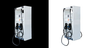 Gas för bränslepump som isoleras på svartvit bakgrund Fotografering för Bildbyråer