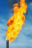 gas facklan Arkivfoto