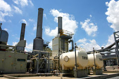 Gas factory Royalty Free Stock Images