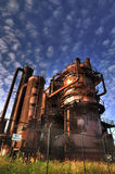 Gas factory royalty free stock photography