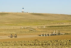 Gas field. New gas field in Wyoming Stock Image