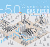 Gas field infographic Stock Photos