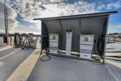 Gas Filling station for boats Royalty Free Stock Images