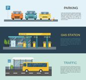 Gas filling station. Energy. Vector flat illustration Royalty Free Stock Photography