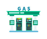 Gas filling station vector icon. Gas filling station isolated icon. Fuel station with gasoline pump vector illustration isolated on white background Stock Images