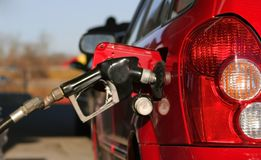 Gas filling up Royalty Free Stock Images
